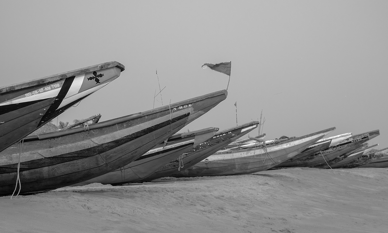 India, Orissa, i pescatori di Chandrabhaga