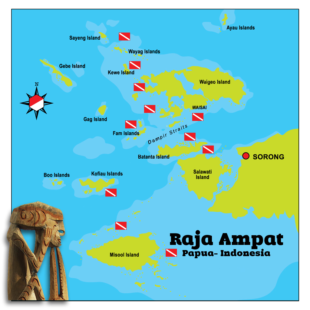 Mappa: Raja Ampat Papua-Indonesia
