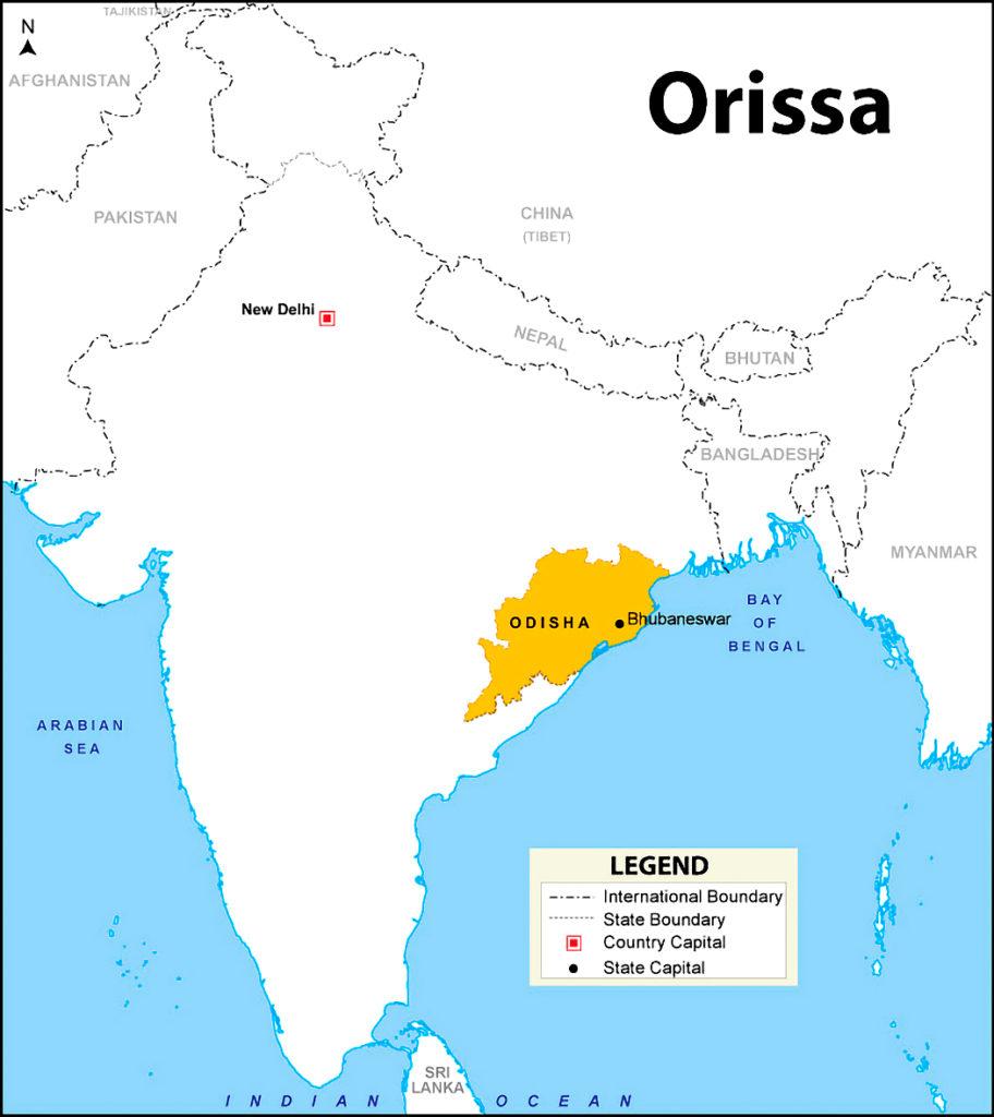 Mappa India, Orissa, i pescatori di Chandrabhaga